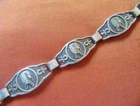 【送料無料】ブレスレット アクセサリ— ビンテージエジプトソリッドスターリングシルバーブレスレットトゥトアンクアメンマスクスタンプamazing vintage egyptian solid sterling silver bracelet tutankhamun mask_stam