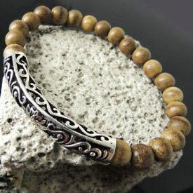 【送料無料】ブレスレット アクセサリ— ブレスレットロータススターリングシルバーagarwood bracelet meditation mala calm fragrance lotus sterling silver