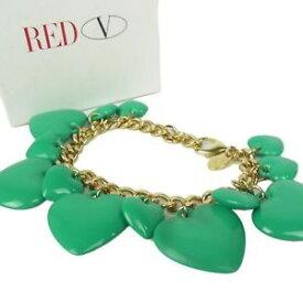 【送料無料】ブレスレット アクセサリ— ニューlistingauth redヴァレンチノlogoチェーンブレスレットw1224 listingauth red valentino logos heart bijou chain bracelet wbox 1224