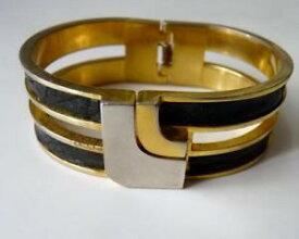 【送料無料】ブレスレット アクセサリ— ロエベヘビゴールドシルバーロゴビンテージブレスレットloewe snake skin gold silver logo vintage bracelet