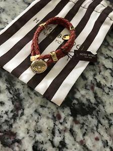 【送料無料】ブレスレット アクセサリ? ブレスレットダークオレンジイエローゴールドhenri bendel tribal braided bracelet dark orange yellow gold nwt