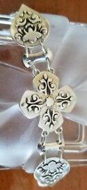 【送料無料】ブレスレット アクセサリ— スターリングシルバークロスブレスレットbarse sterling silver cross bracelet