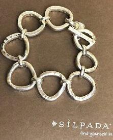 【送料無料】ブレスレット アクセサリ— ラッシュスターリングシルバーブレスレットb2709 silpada rush sterling silver bracelet 75 85