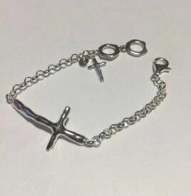 【送料無料】ブレスレット アクセサリ— スターリングシルバークロスブレスレットゴージャスsilpada nib in good faith hammered sterling silver cross bracelet gorgeous