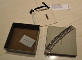 【送料無料】ブレスレット アクセサリ— ライトシルバーブレスレットサイズ marni womens light silver bracelet size large