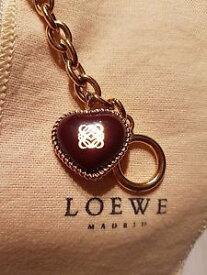 【送料無料】ブレスレット アクセサリ— ロエベシグネチャーロゴハートゴールドブレスレットローズloewe signature logo heart rose gold bracelet