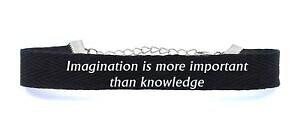 【送料無料】ブレスレット アクセサリ? コットンブレスレットスマートcotton bracelet imagination is more important than knowledge gift stylish design