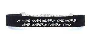 【送料無料】ブレスレット アクセサリ? コットンブレスレットa12スマートジュエリーcotton bracelet a wise man hears one word and understands two stylish jewelry
