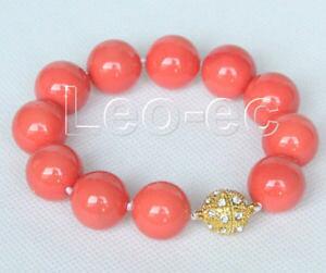 【送料無料】ブレスレット アクセサリ? コーラルピンクサウスシーシェルブレスレットマグネットクラスプ8 16mm round coral pink south sea shell pearls bracelet magnet clasp v339