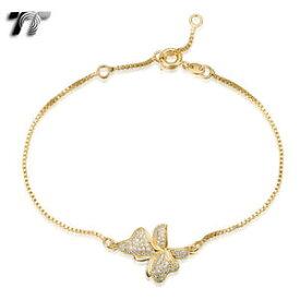 【送料無料】ブレスレット アクセサリ— kゴールドボックスチェーンバタフライブレスレットtt 18k gold filled box chain butterfly bracelet cbf24j