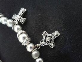 【送料無料】ブレスレット アクセサリ— シルバークロスブレスレットフィットsilver cross decorative bracelet awesome fit stretchy
