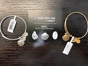 【送料無料】ブレスレット アクセサリ? ブランドタグアレックスシーシェルブレスレットシルバーゴールドbrand wtags authentic alex and ani sea shell bracelet silver or gold