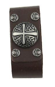 【送料無料】ブレスレット アクセサリ? ブレスレットレザーブラウンモチーフスタッドボルトローマbracelet leather brown with motif studs roman