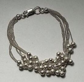【送料無料】ブレスレット アクセサリ— スターリングシルバービードブレスレットインチ925 sterling silver 6 layers beads dainty bracelet 65 inches long