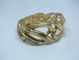 【送料無料】ブレスレット アクセサリ— クランプブレスレットゴールドトーンbeautiful clamp bracelet gold tone openwork 1 18 x 2 14 across