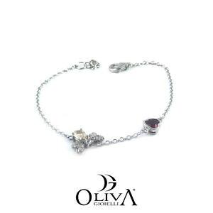 【送料無料】イタリアン ブレスレット ブレスレットシルバースワロフスキーosa bracciali donna cuore argento 925 swarovski