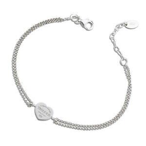 【送料無料】イタリアン ブレスレット カフトレスジョリーシルバーダブルチェーンbracciale donna tres jolie jewels doppia catena cuore in argento 925 brtr0004