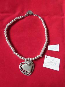 【送料無料】イタリアン ブレスレット ビビハートラベルネックレスビーズbibi bijoux filigrana cuore collana di perline a sferanuovissimo con etichetta