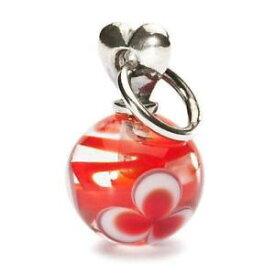 【送料無料】イタリアン ブレスレット ペンダントシルバーガラスサンバレンティーノtrollbeads ciondolo argento e vetro san valentino rosso tagbe00025