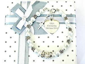 【送料無料】イタリアン ブレスレット バプテスマフラワーブレスレットハートチャームバプテスマbattesimo santa comunione fiore bracciale incisa cuore charm battesimo regalo