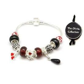 【送料無料】イタリアン ブレスレット バレンティーノビーズブレスレットtoc beadz amore s valentino cuore charm leggere perline braccialetto