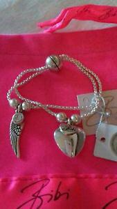 【送料無料】イタリアン ブレスレット ビビブレスレットbibi bijoux doppio filamento angelo ala cuore cristallo braccialetto magnetico