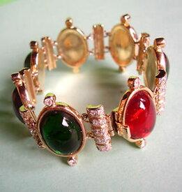 【送料無料】イタリアン ブレスレット バレンティーノブレスレットカボション520 valentino bracelet a cabochons de couleur