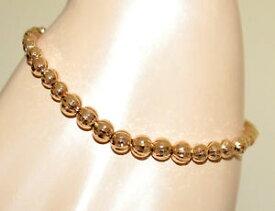 【送料無料】イタリアン ブレスレット テニスブレスレットゴールドゴールドブレスレットbracciale tennis oro dorato donna sfere metallo lucido gold bracelet regalo bb27