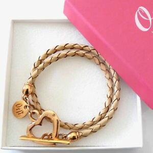 【送料無料】イタリアン ブレスレット ボックスレザーラップブレスレットリムピンクハート amp; boxed orli leather wrap braccialetto dellamicizia nudo amp; placcata in oro rosa cuore
