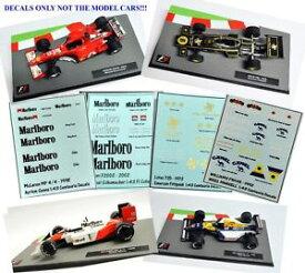 【送料無料】模型車 スポーツカー フォーミュラカーコレクションウィリアムズフェラーリロータスマクラーレンデカールセットset of 4 decals for the formula 1 car collections williams ferrari lotus mclaren
