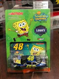 【送料無料】模型車 スポーツカー 2003ジミージョンソンスポンジボブロウ164アクションhoスポンジボブ2003 jimmie johnson spongebob lowes car 164 action ho sponge bob
