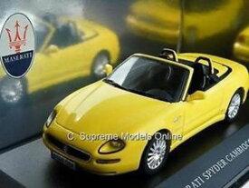 【送料無料】模型車 スポーツカー マセラティマセラティスパイダーディーラーモデルサイズ#maserati spyder cambiocorsa car dealer model 143rd size yellow issue k8967q~~