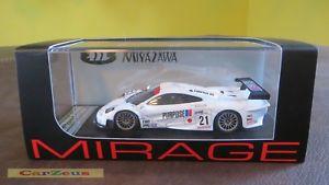 【送料無料】模型車 スポーツカー ミラージュマクラーレン#キロエド143 hpi mirage, mclaren f1 gtr, 21, 1999 fuji 1000km miyazawa mukei limited ed