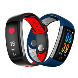 【送料無料】腕時計 スマートブレスレットモニタカラーq6 smart bracelet hr blood pressure blood oxygen monitor 096 color screen pedom