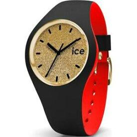 【送料無料】腕時計 シリコンネロロッソゴールドウォッチorologio ice watch loulou ic007228 small 34mm silicone nero rosso gold glitter