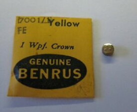 【送料無料】腕時計 イエロークラウン#タップnos genuine benrus waterproof yellow crown 70011 tap10 watch part signed ***