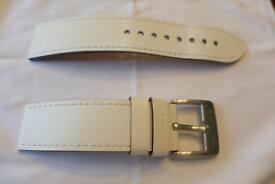 【送料無料】腕時計 グリシンバックルグリシンホワイトレザーストラップ