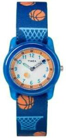 【送料無料】腕時計 ユースバスケットボールアナログストラップウォッチtimex youth analogue blue strap basketball tw7c168004e watch