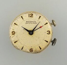 【送料無料】腕時計 ビンテージメンズアラームマニュアルvintage benrus wrist alarm mens manual wind wrist watch movement ds 15 as 1475