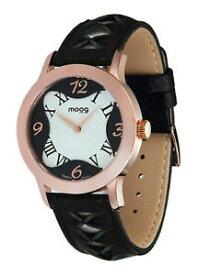 【送料無料】腕時計 パリノワールエブランブレスレットノワールmoog paris montre femme avec cadran noir et blanc, bracelet noir