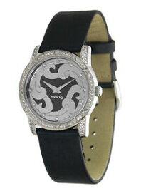 【送料無料】腕時計 パリノワールノワールブレスレットスワロフスキーエレメントmoog paris montre femme avec cadran noir, elments swarovski, bracelet noir