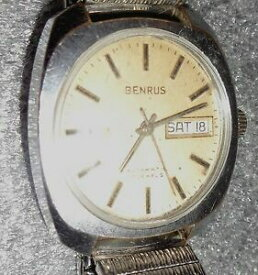 【送料無料】腕時計 ビンテージメンズvintage mens benrus automatic wristwatch running