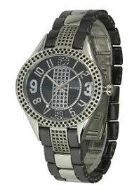 【送料無料】腕時計 パリノワールブレスレットmoog paris montre femme avec cadran noir bracelet argent et noir