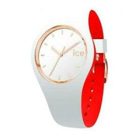 【送料無料】腕時計 シリコンビアンコロッソゴールドウォッチorologio ice watch loulou ic007229 small 34mm silicone bianco rosso gold