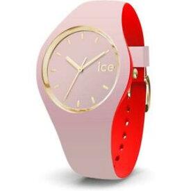 【送料無料】腕時計 シリコンピンクゴールドロッソorologio ice watch loulou ic007234 silicone rosa rosso dorato gold small 100mt