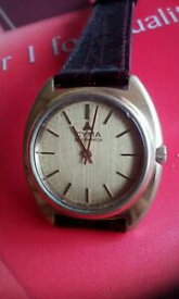 【送料無料】腕時計 ビンテージゲントcyma vintage gents gold plated watchserviced,oiled very good working cond