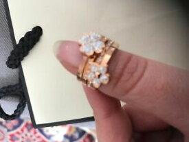 【送料無料】アクセサリー ネックレススタッカブルリングピンクゴールドサイズnuevo anillos apilables folli follie oro rosa con bolsa de regalo talla m