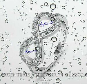 【送料無料】アクセサリー ネックレスシルバーリングリングロッドブライトホワイトゴールドanillo infinito plata 925 infinite love infinity ring rod oro blanco brillantes