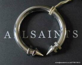 【送料無料】アクセサリー ネックレスシルバーカフブレスレットall saints nevena brazaletepulsera en color plata pulida bnwt 48