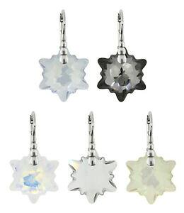 Elements Silver Rosa Pendientes De Cristal De Swarovski Gancho E442M